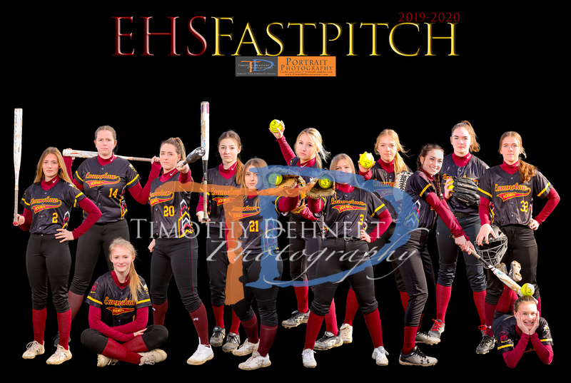 EHS Fastpitch 19-20 Team Poster 12x18 (front)
