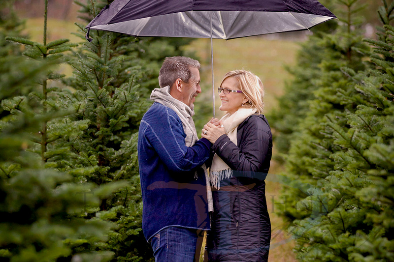 Christmas tree farm portrait